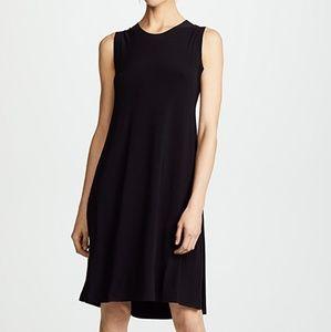 Norma Kamali organic black sleeveless dress XS